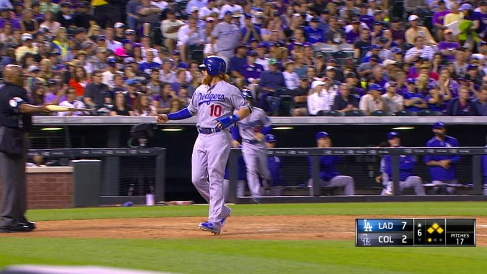 Dodgers' six-run inning