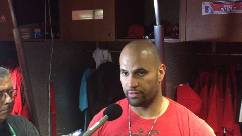 Pujols on his two home runs