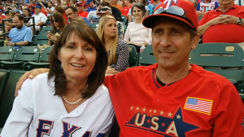 Gallo's parents on his debut