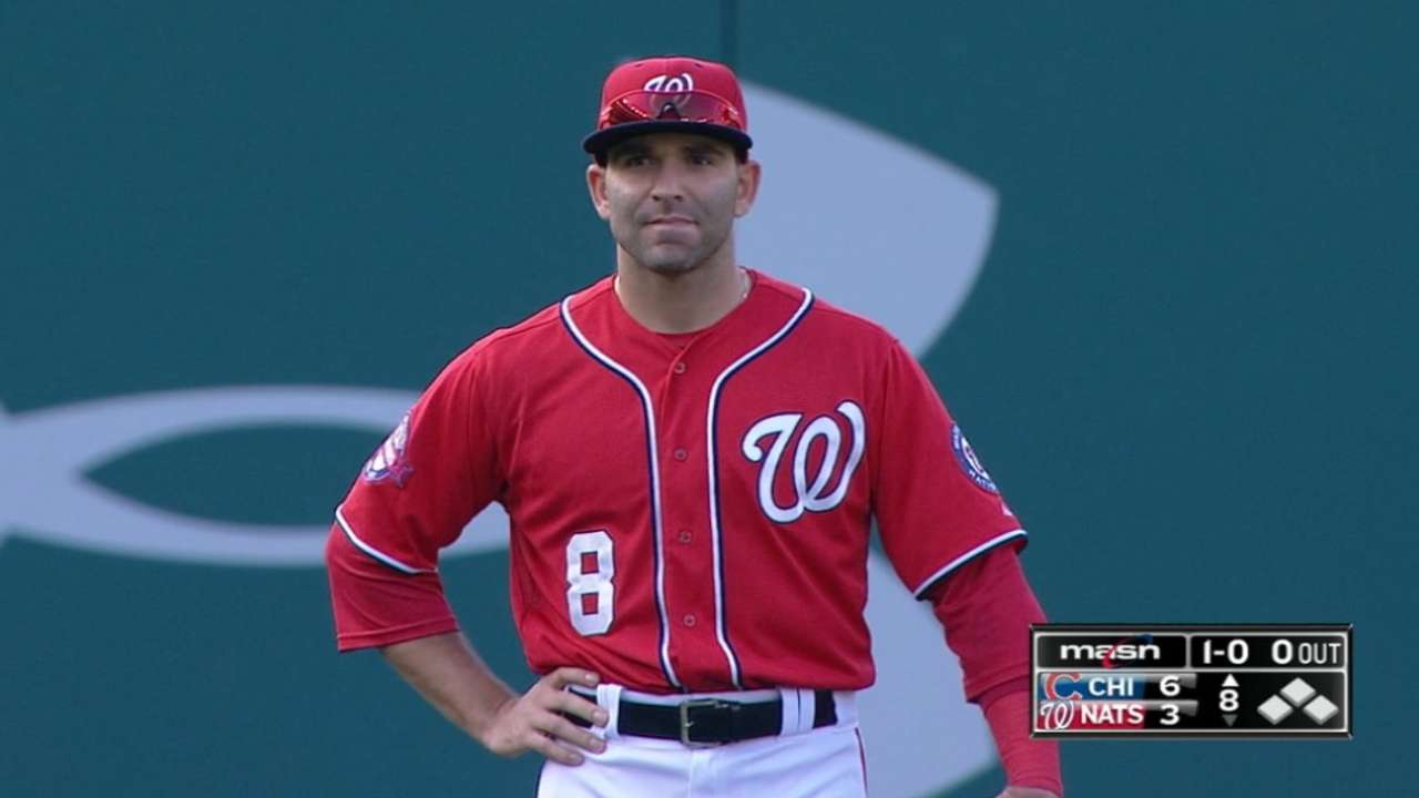 Denard Span s back spasms put Danny Espinosa in outfield  a1e7eeea5