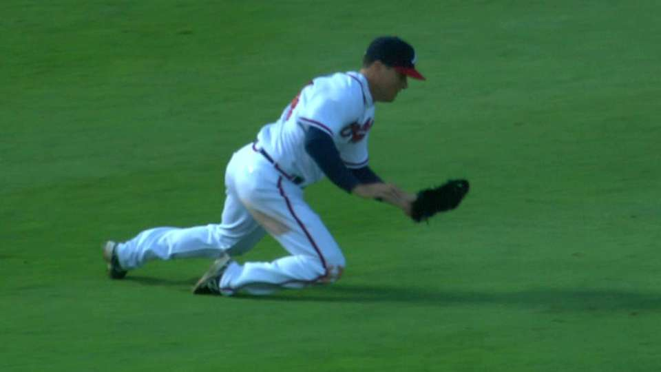 Johnson's tumbling catch