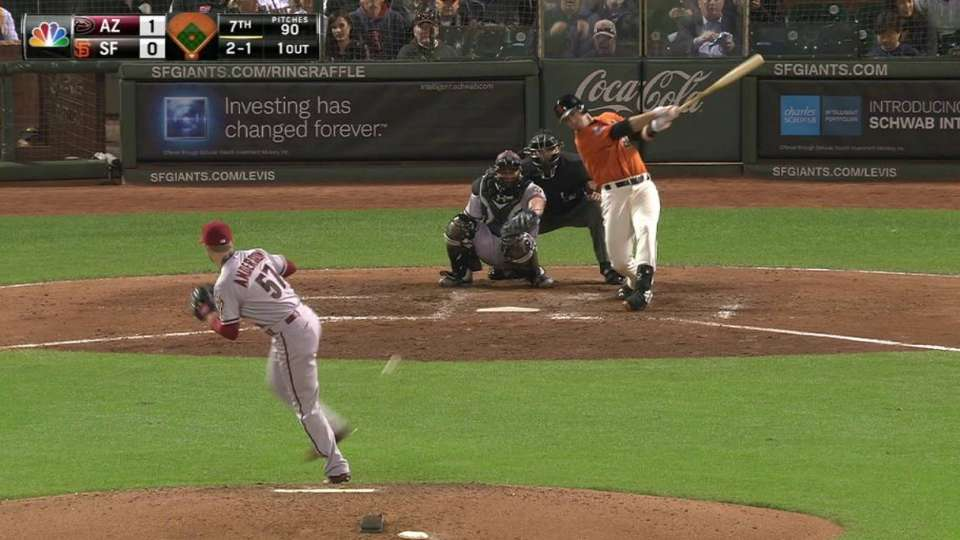 Posey breaks up no-hitter