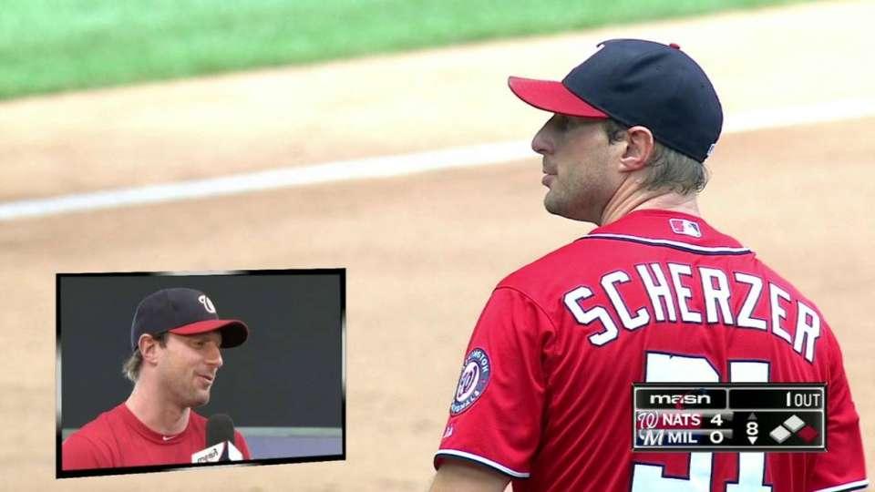 Scherzer on last 15 pitches