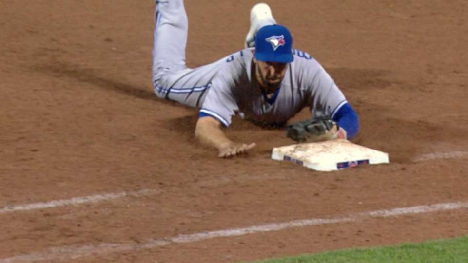 Colabello's diving stop at first