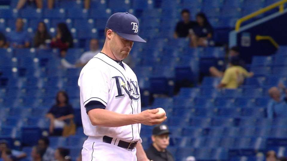 Position players pitch for Rays