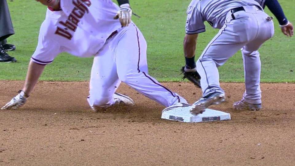 Goldy steals second