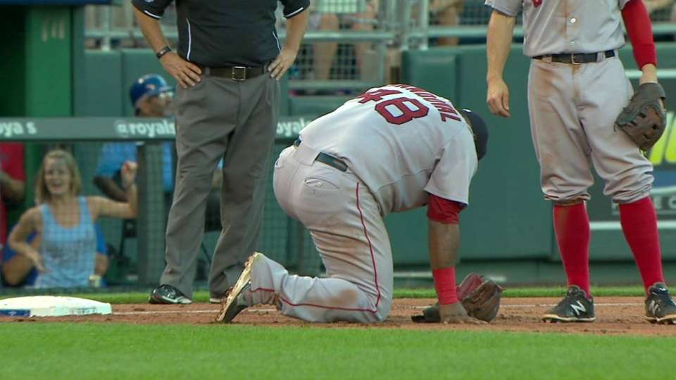 Sandoval exits game after injury