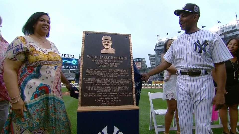Randolph's plaque unveiled