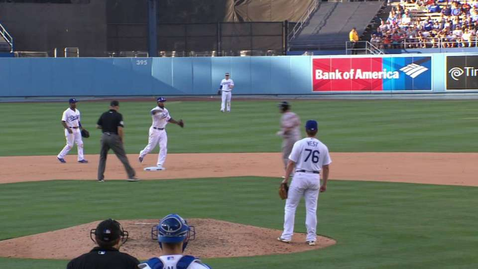 Dodgers turn double play