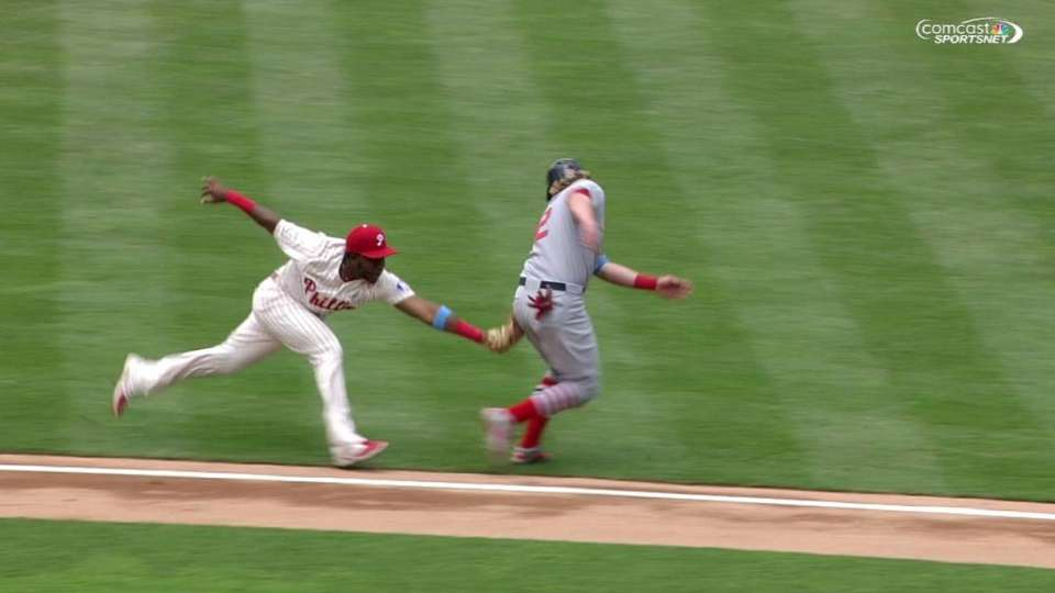 Phillies turn double play