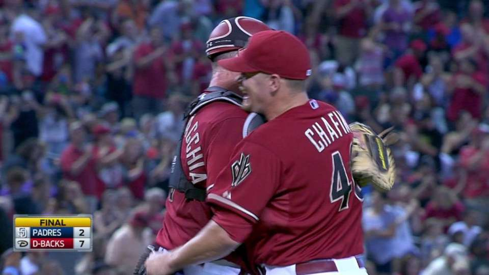 Chafin's first career save