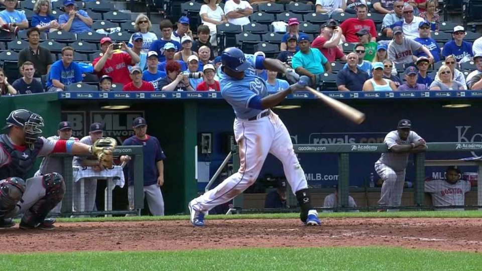Cain's two-run triple