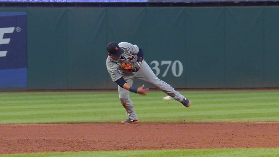 Tigers turn a double play