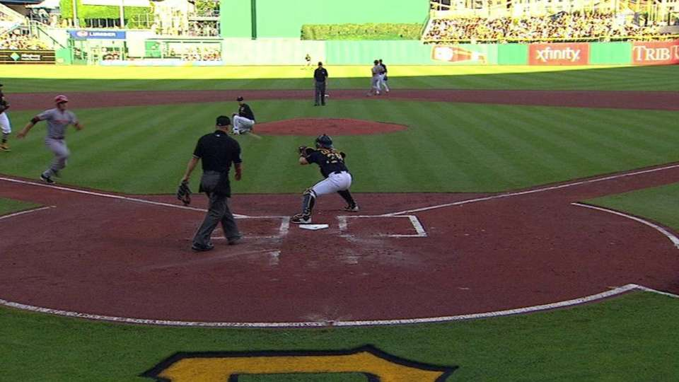 Harrison gets Votto at home