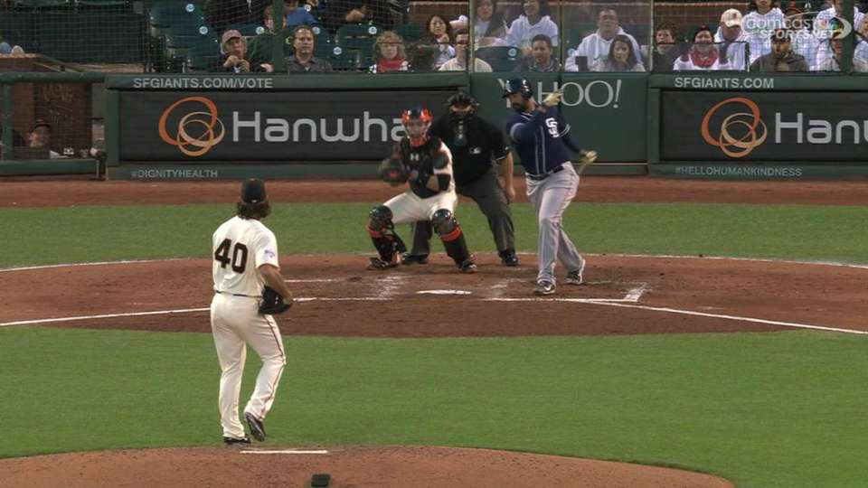 Bumgarner's 10th strikeout