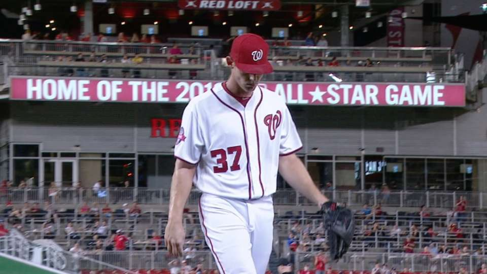 Strasburg goes five scoreless