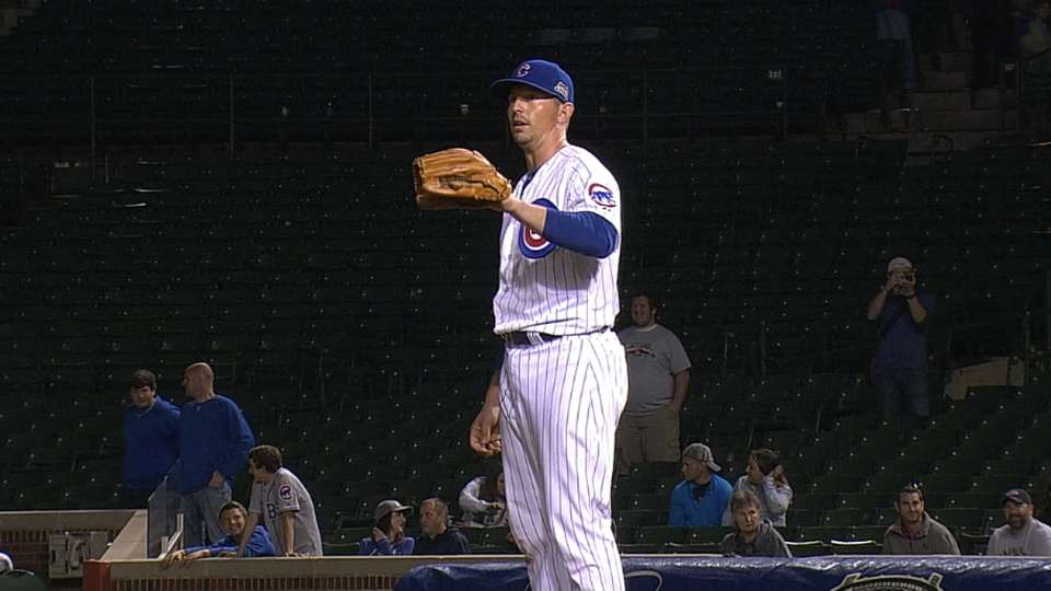 Catcher Baker pitches, earns win