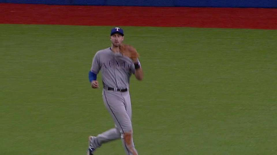 Gallo makes his first CF catch
