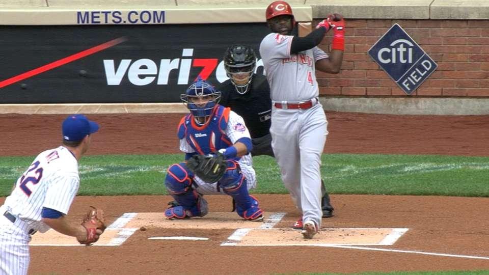 Phillips' leadoff home run