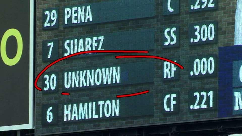 Mets' scoreboard confused