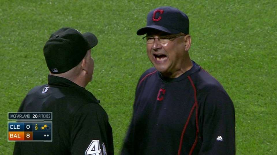 Francona tossed after strikeout