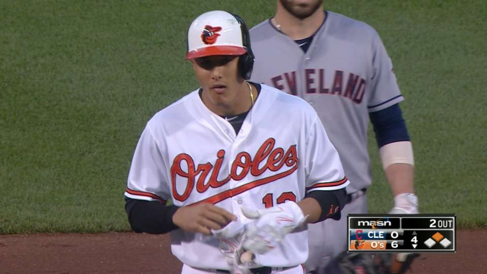 O's score six in the 4th