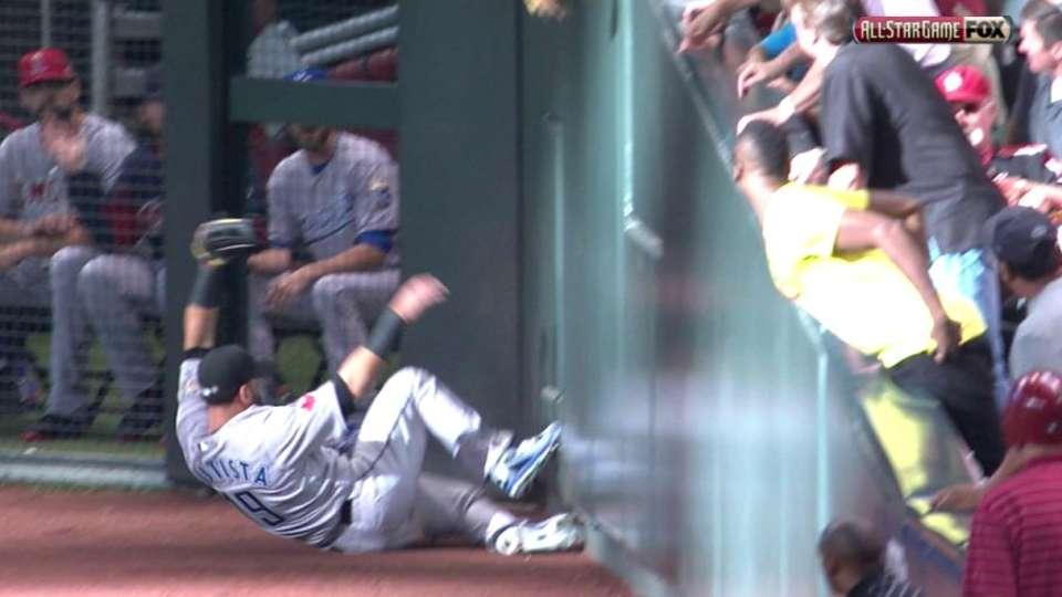 Bautista's great sliding catch