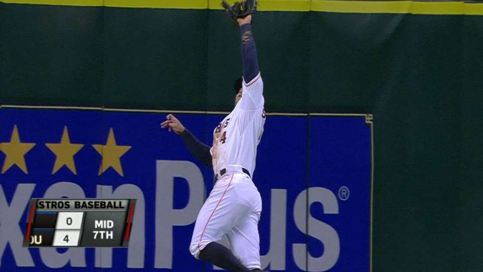 Springer's leaping catch