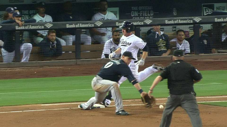 Gyorko safe after challenge
