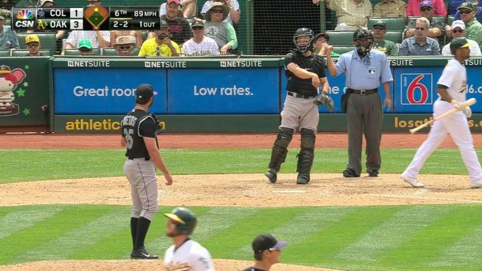 Bettis' fourth strikeout