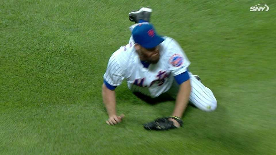 Parnell turns two on diving grab