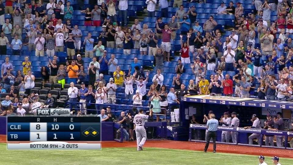 Carrasco loses no-hitter