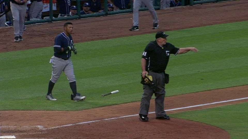 Solarte ejected after strikeout