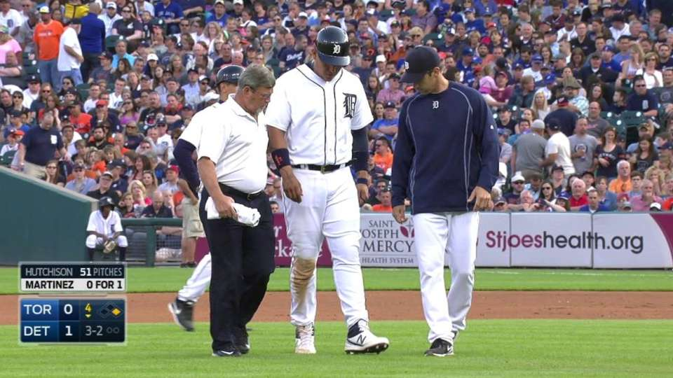 Miggy exits with injury
