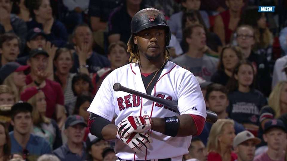 Hanley takes ball four and waits