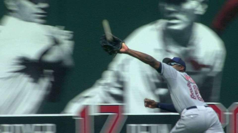 J. Upton's running catch