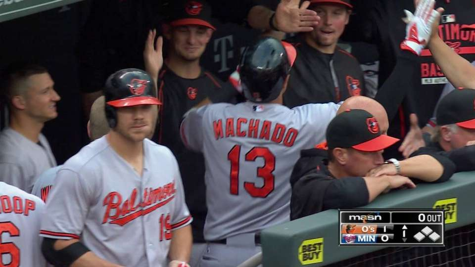 Machado's leadoff homer