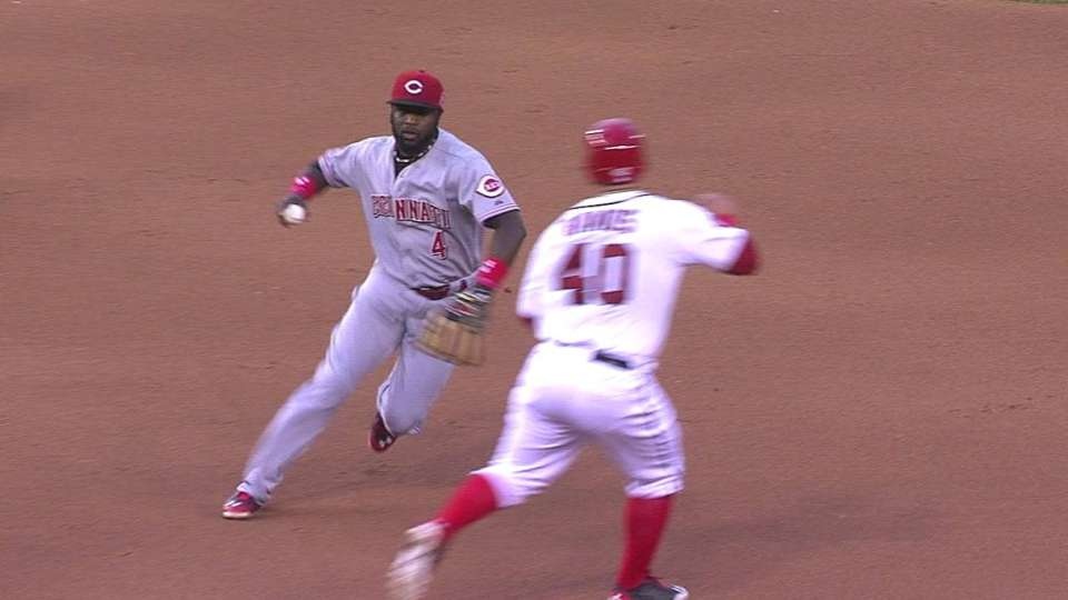 Phillips turns odd double play