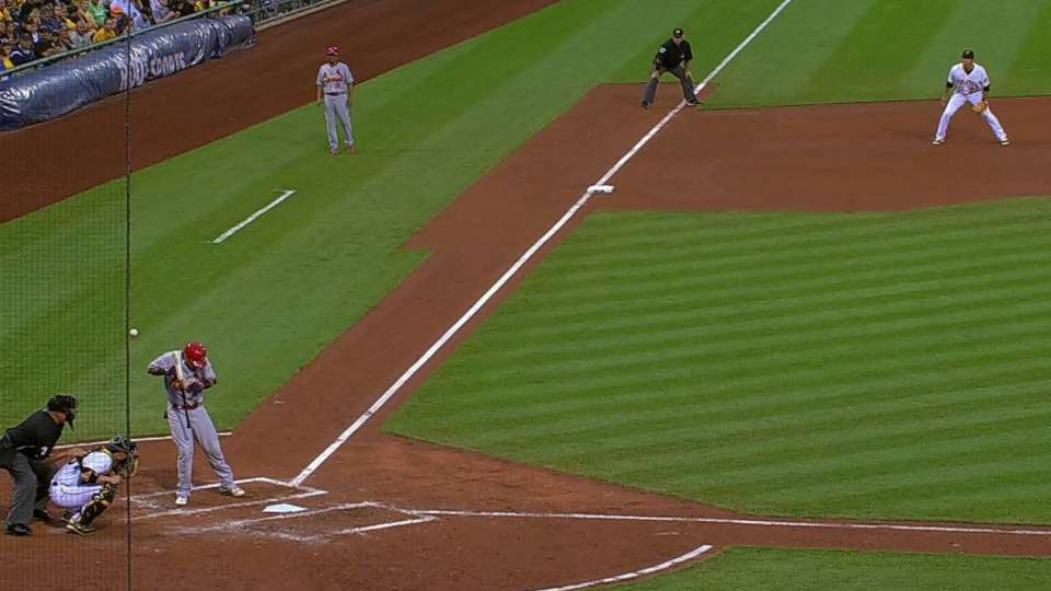 Molina's hit-by-pitch overturned