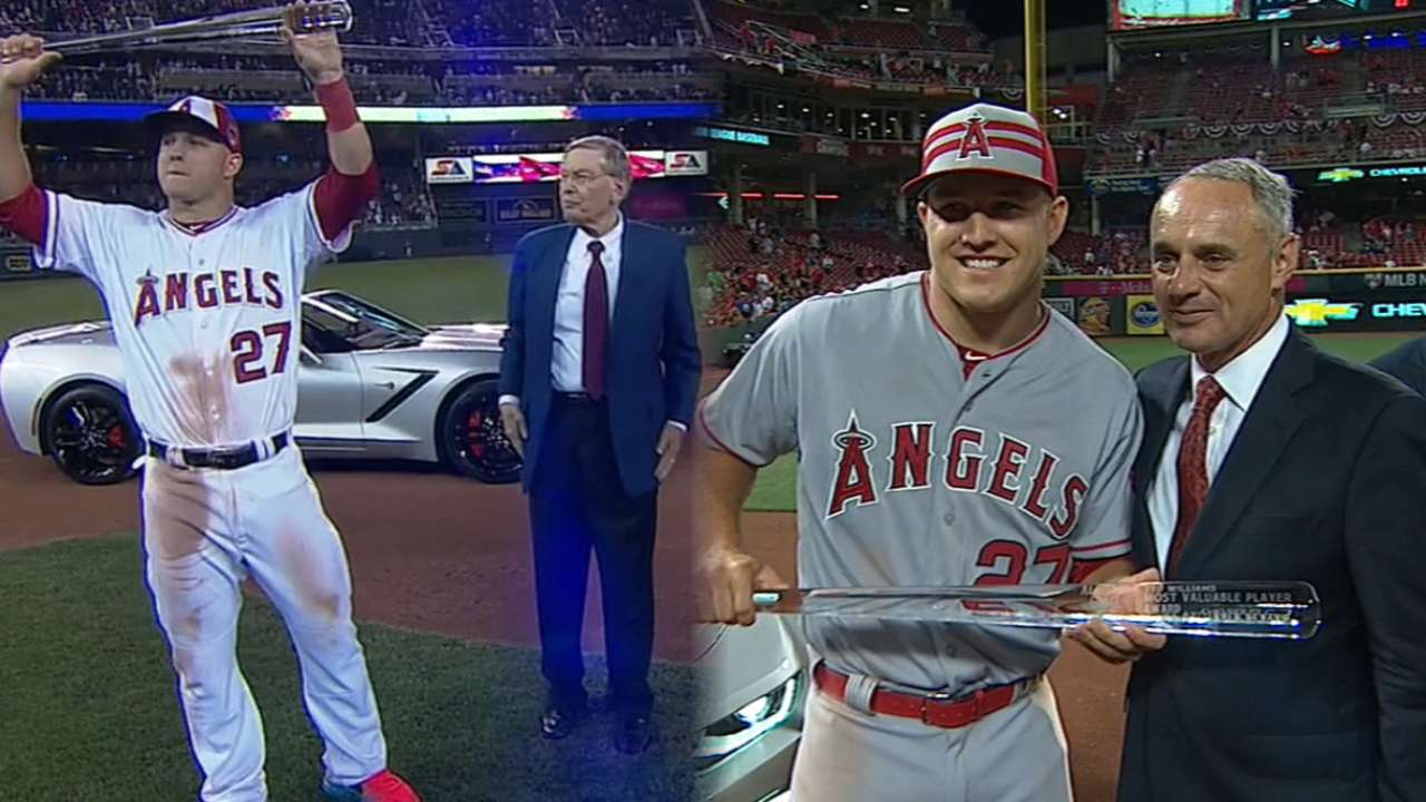 10052343a35 Mike Trout won back-to-back All-Star Game MVPs