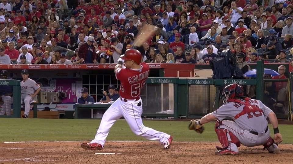 Calhoun homers twice vs. Red Sox