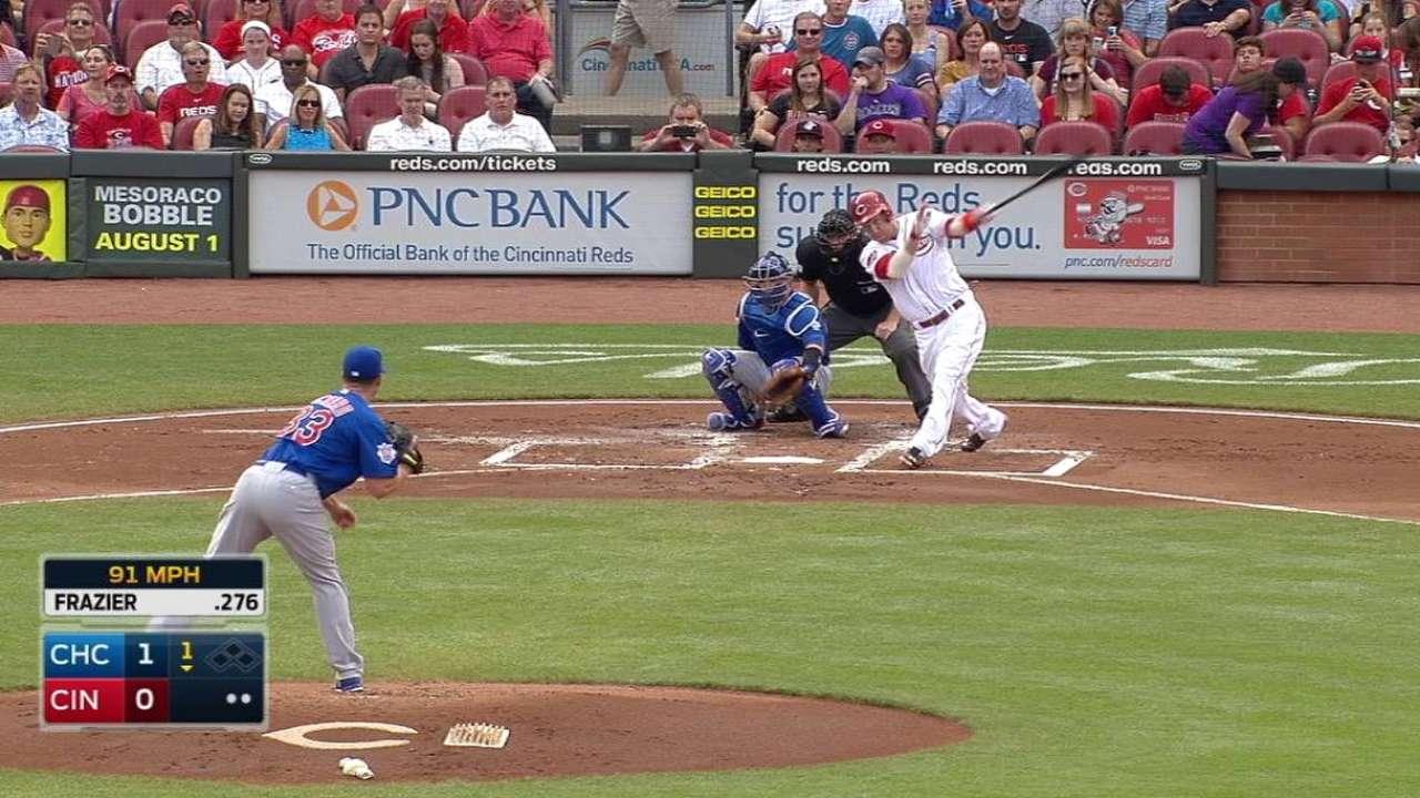 Frazier jonronea y lidera triunfo de Rojos vs. Cubs