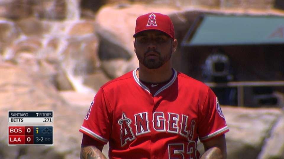 Santiago's 10 strikeouts