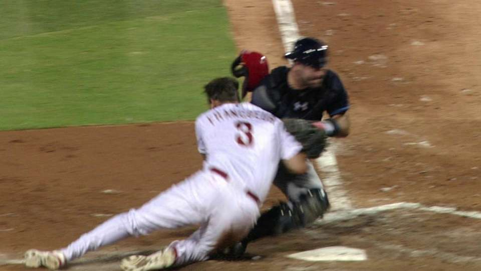 Casali tags Francoeur at home
