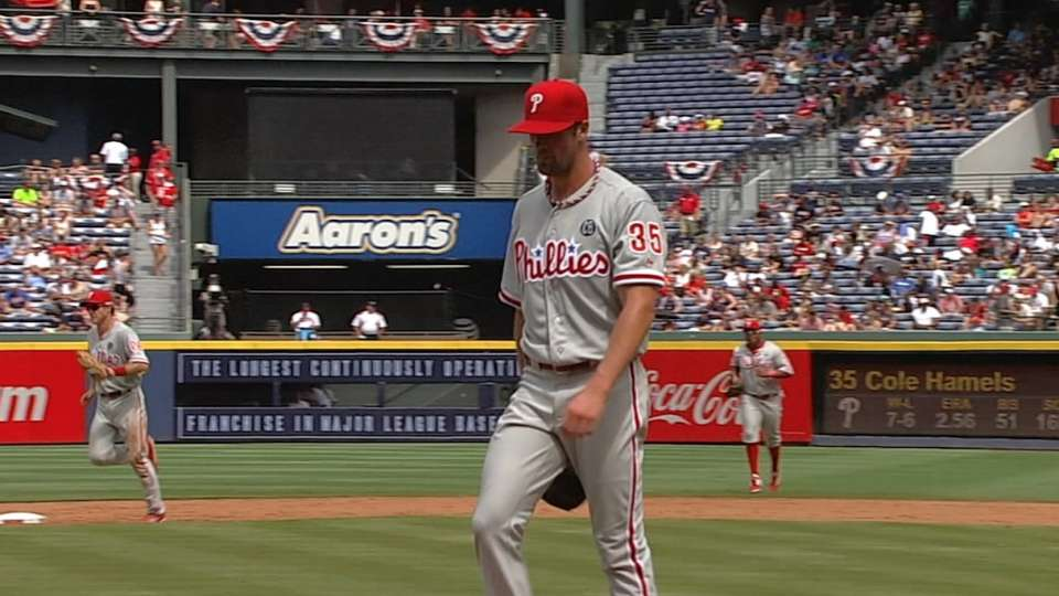 Hamels' six no-hit frames