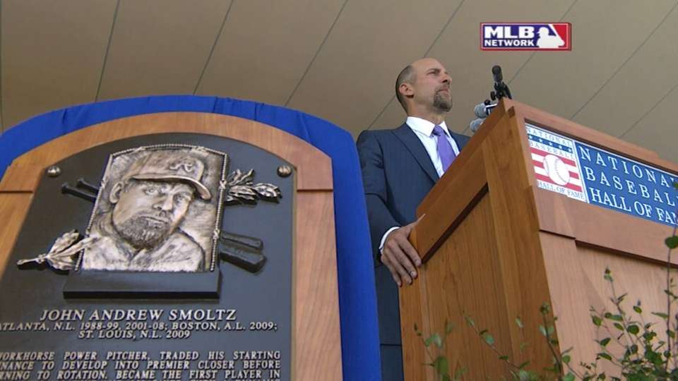Smoltz enters Hall of Fame
