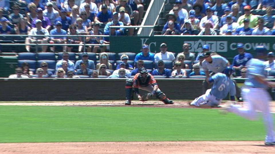 Valbuena's heads-up play