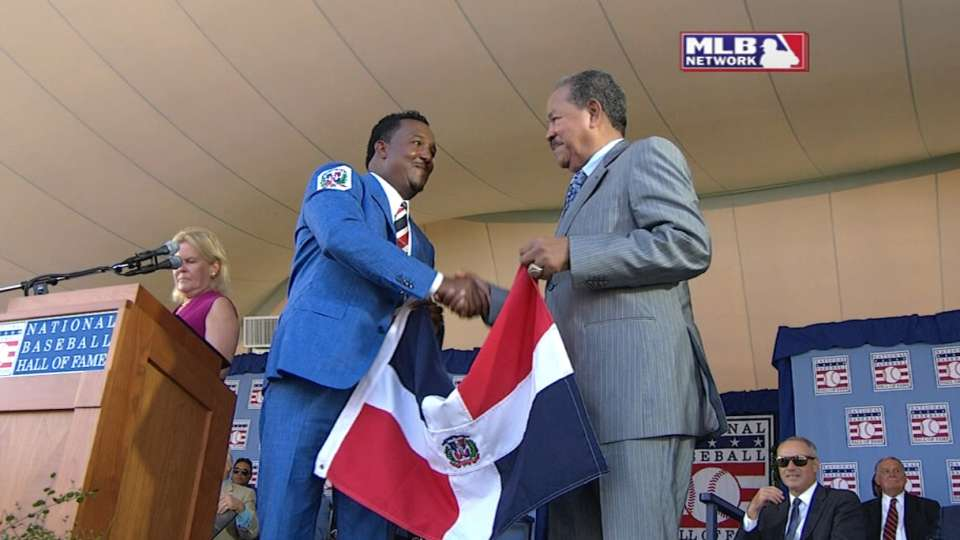 Pedro shares stage with Marichal