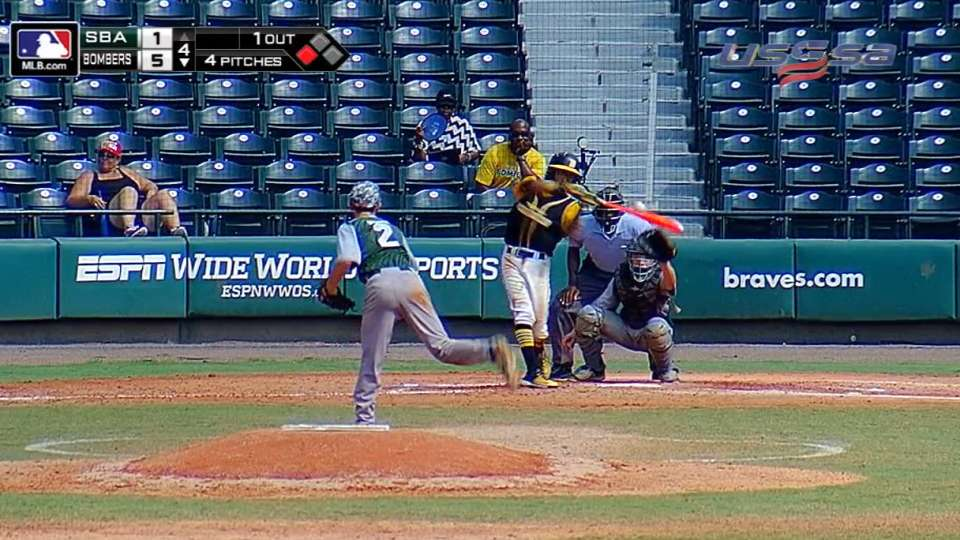 Delgrate strikes out batter