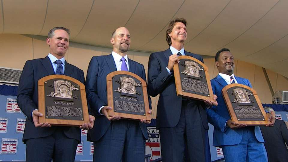 Inductees speak at Hall of Fame